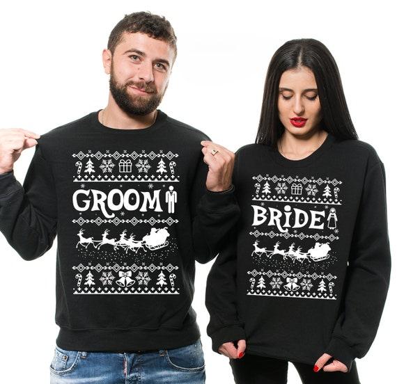 Christmas Coppia Felpe King Queen Personalizzata con Nome con Cappuccio Idea Regalo di Natale Regalo San Valentino
