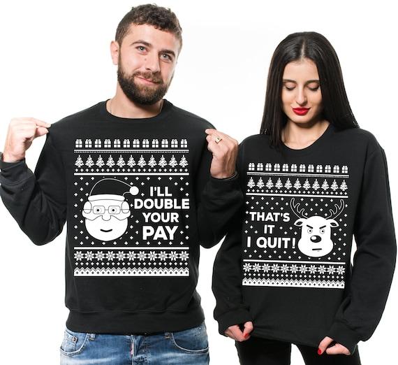Christmas Sweaters For Couples.Ugly Christmas Sweaters Couple Christmas Sweater Christmas Sweater Matching Christmas Sweaters Christmas Couple Sweaters
