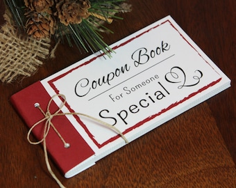 Coupon Book. Printable gift idea. Instant download. DIY PDF print. Love coupons. Husband, wife, child, parent, friend. Christmas vouchers.