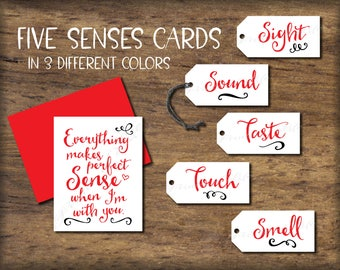 five senses gift tags card 5 senses instant download printable diy christmas gift for him her husband wife valentines love birthday - What To Buy My Husband For Christmas