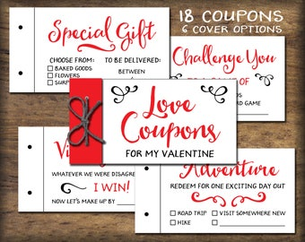 Coupon Book Printable Gift Idea Instant Download Diy Pdf Etsy