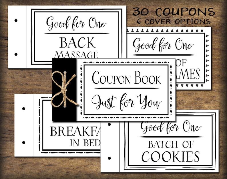 2dcd9dfa0e213 Coupon Book. Printable gift idea. Instant download. DIY PDF.