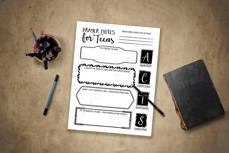 image relating to Acts Prayer Printable named Prayer Notes for Young people. PDF printable. Prompt obtain. Functions. Boys, women, children, youth, adolescents. Church magazine. Bible analyze consultant planner.