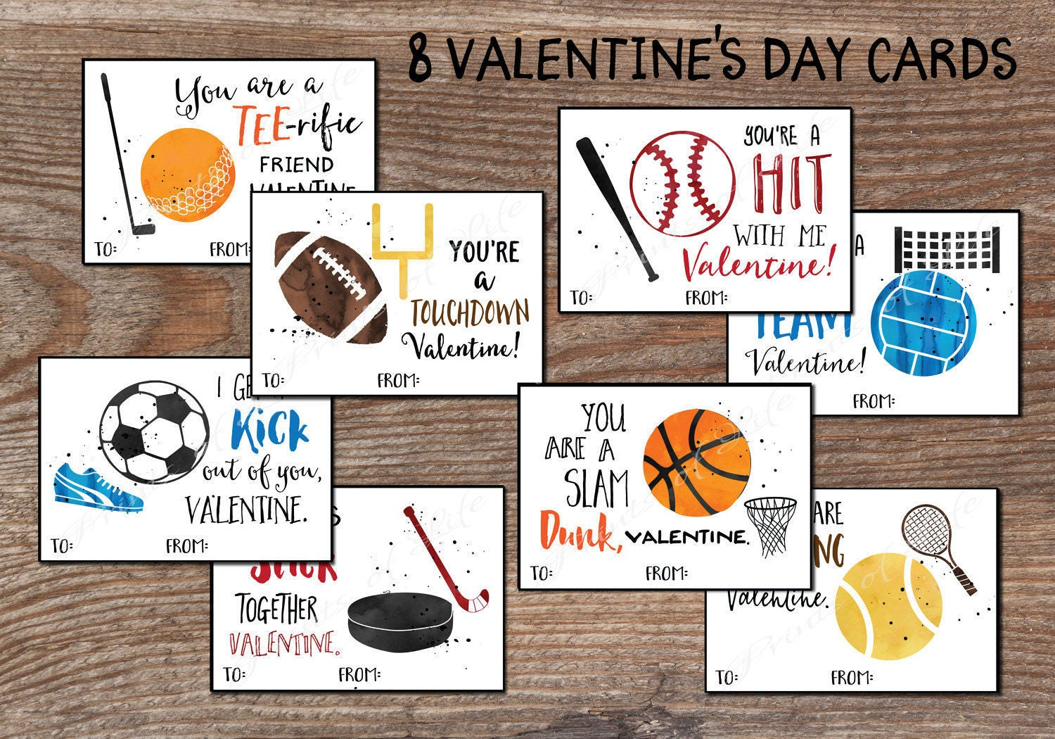 Sports Valentine/'s Day Cards Football Soccer Basketball Flick em Game Card with Envelopes for Kids Valentine Classroom Exchange Party Favor