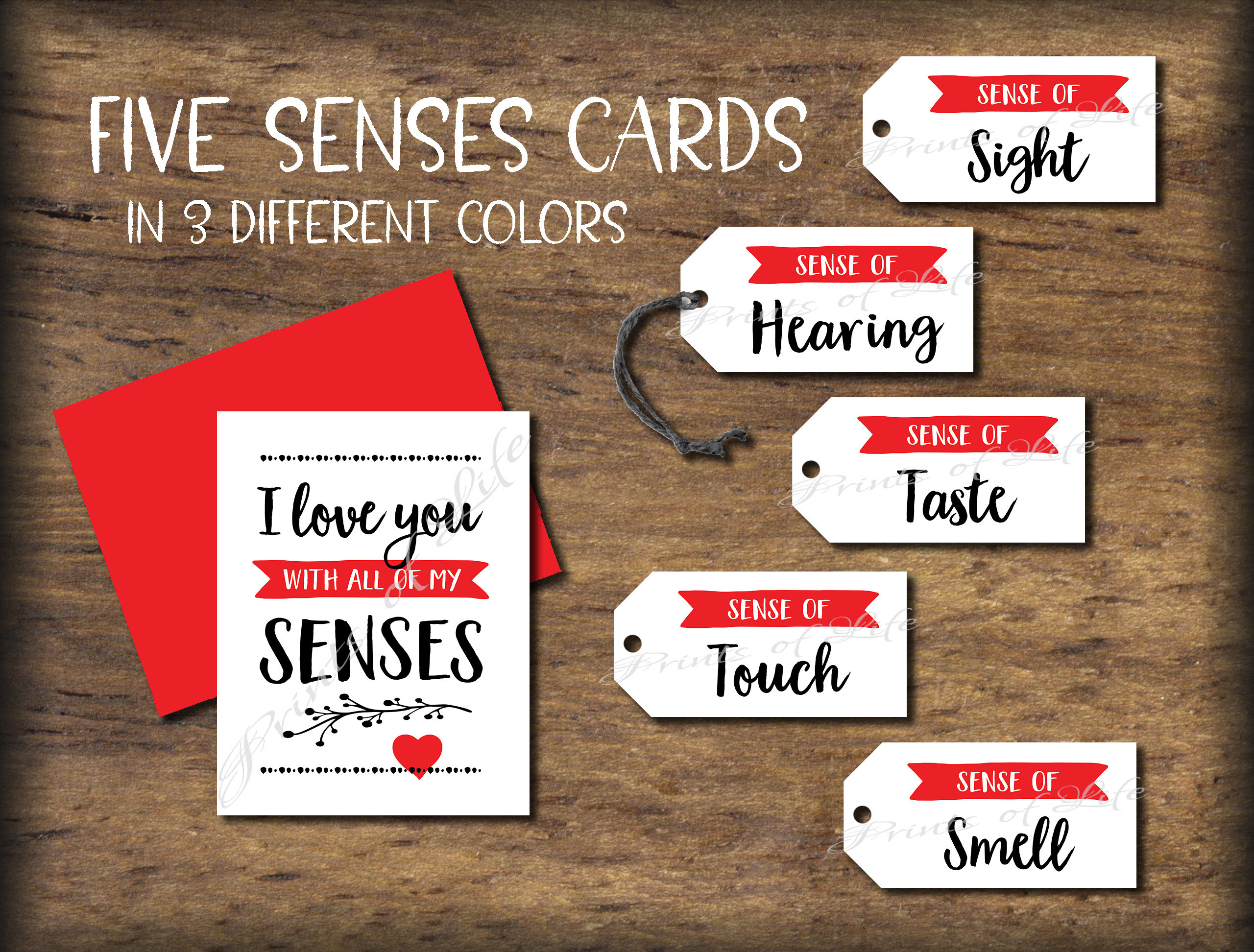 Five Senses Gift Tags Card Date Night Idea 5 Senses Instant Download Printable Christmas Gift For Him Her Valentine S Love Birthday
