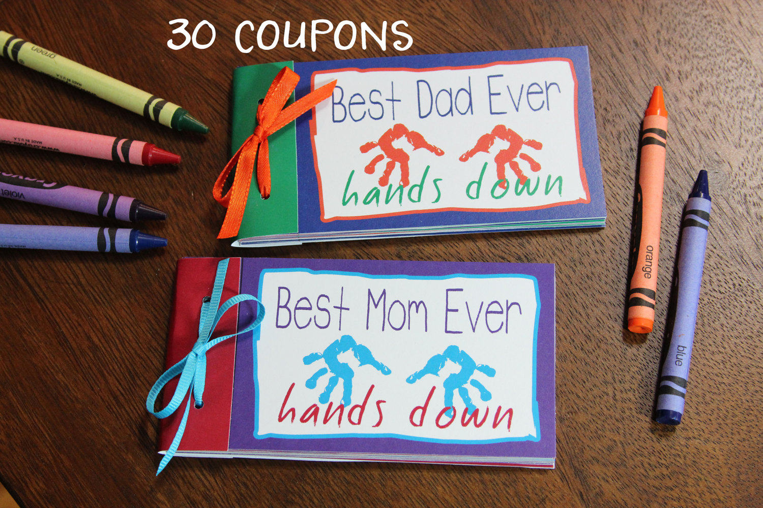 Coupon Book Best Mom Dad Ever PDF Instant Download DIY