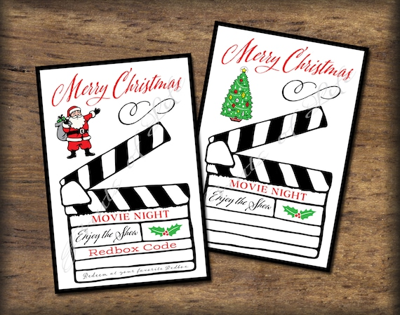 Items similar to Printable Christmas Redbox code gift card. Instant ...