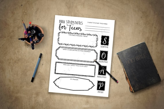 Bible study guide for teens