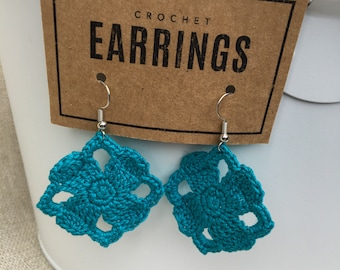 Squared Petal dangle earrings Made to Order