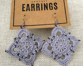 Beaded Large Royal Earrings - Made to Order