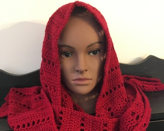 Little Red's Hooded Scarf *DIGITAL PATTERN*