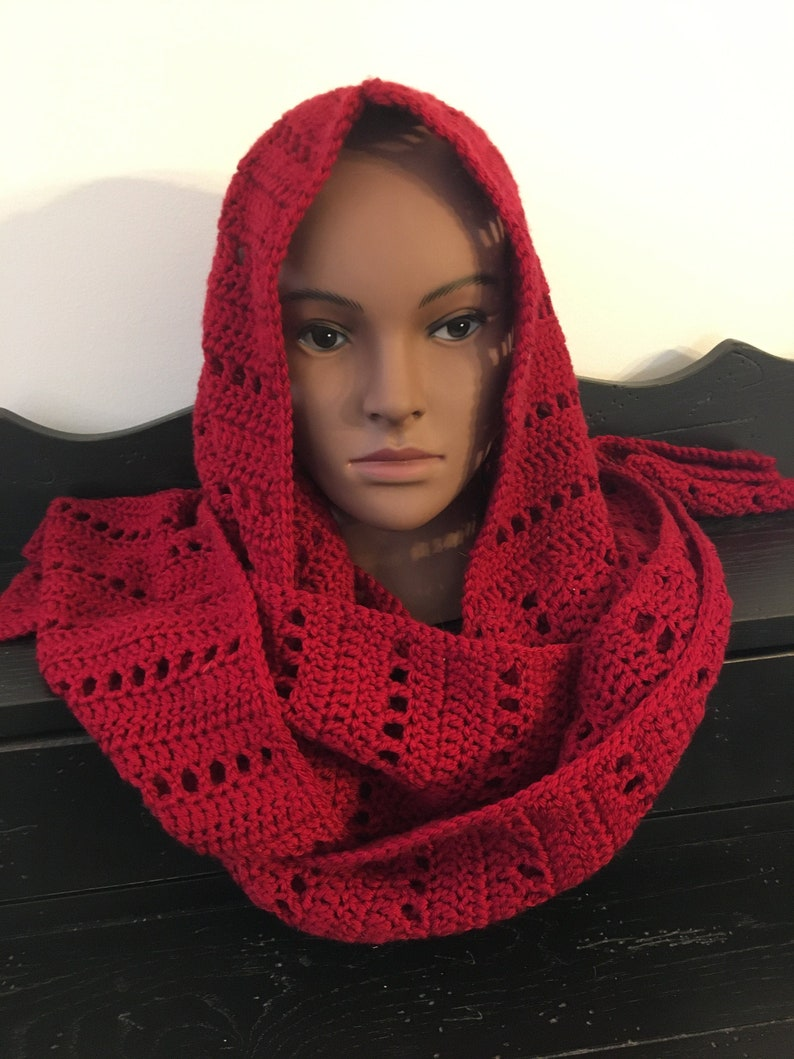 Little Red's Hooded Scarf DIGITAL PATTERN image 0