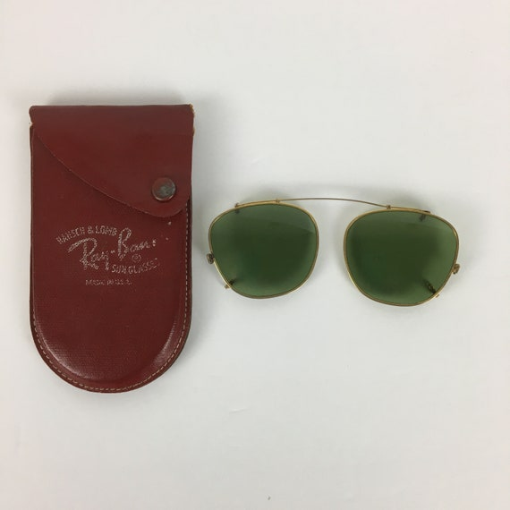 Ray-Ban Clip-on Sunglasses Original Leather Case 1
