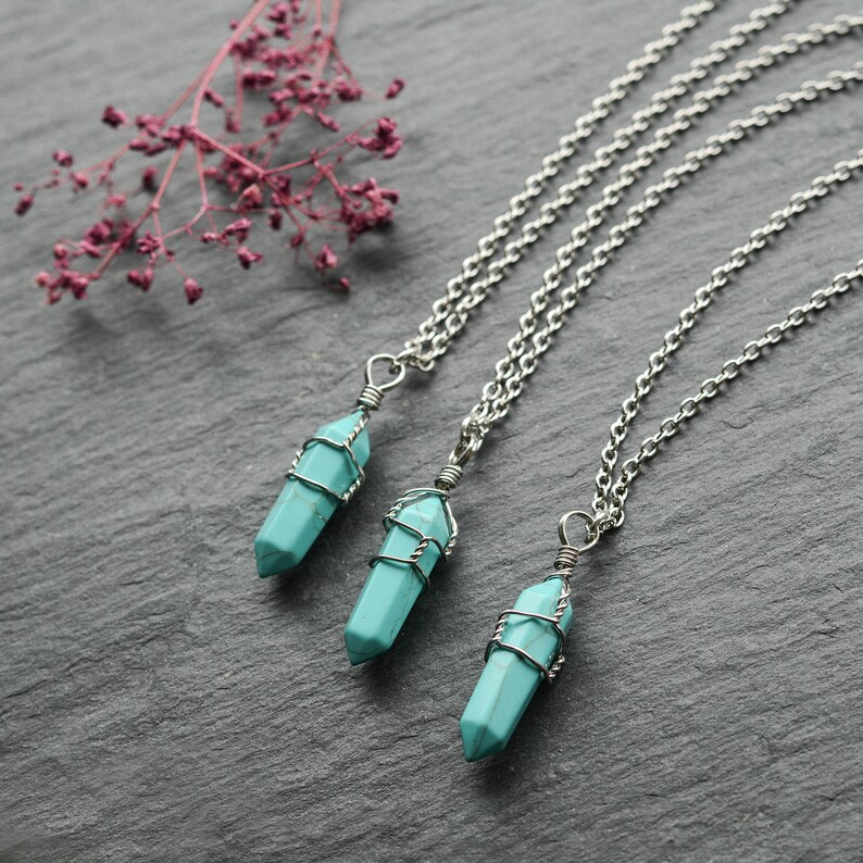 Halskette  Sandstein  Anhänger Blau Kugelkette      Wieder eingetroffen !!!
