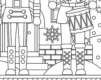 christmas coloring page holiday xmas nutcrackers christmas treats holiday coloring book adult coloring page