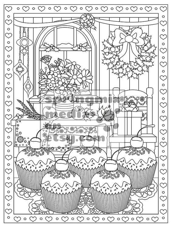 - Christmas Coloring Page Christmas Treats Holiday Coloring Etsy