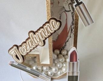 Customized 3D letter - Makeup 3D letters - Party decorations letters - 3D decoration letters - 3d room decor letters - Quinceañera 3d letter
