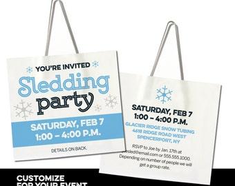 Tubing invitation Etsy