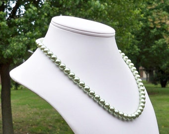 Pea Green Pearl Necklace Mint Green Pearl Necklace Light Green Pearl Necklace Olive Green Pearl Necklace Metallic Green Pearl Necklace Green
