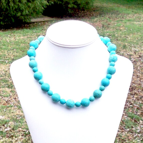 72# 8mm Blue Sea blue jade Round beads  gemstone Necklace18''