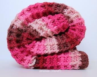 Pink Baby Blanket | Waffle Stitch | Crochet Blanket | Caron Cake Pink | Blankets & Throws | Baby Blanket | Crochet Pink Blanket | Baby Girl