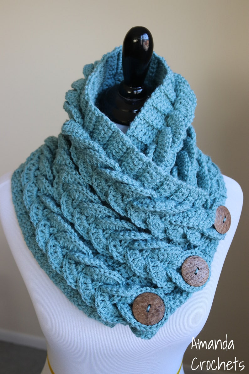 Braided Cowl Crochet Braided Cowl Blue Cowl Pink Cowl Winter Etsy