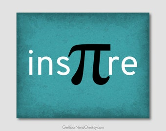 edd2388f Inspire Pi Math Art School Wall Art Math Classroom Decor Unique Pi Art  Print Math Teacher Gifts Minimalist Wall Art Mathematics Poster