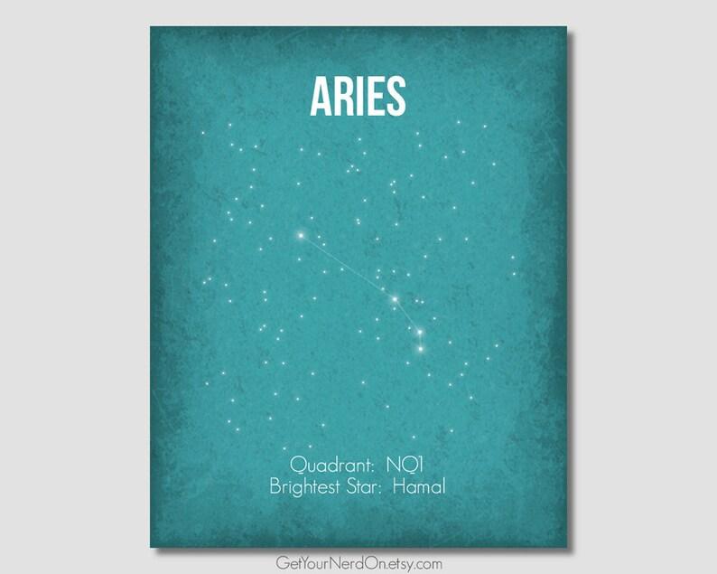 Aries Constellation Minimalist Art Print Nerdy Nursery Decor Zodiac  Constellation Science Nerd Print Astronomy Home Decor Science Wall Art