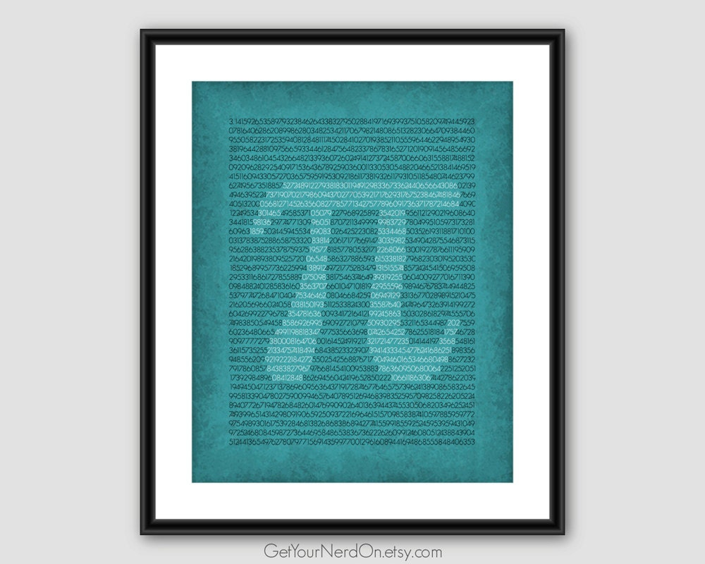 Pi Digits Print Math Teacher Gift Nerdy Math Poster