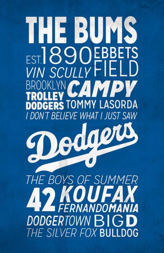Los Angeles Dodgers Print   Etsy
