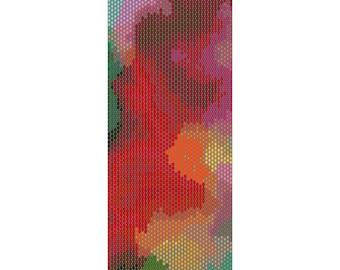 Abstract Peyote Cuff Beaded Bracelet Pattern