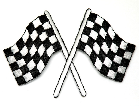 Race Flags Racing Racing Car Birthday Gift Patch Iron On