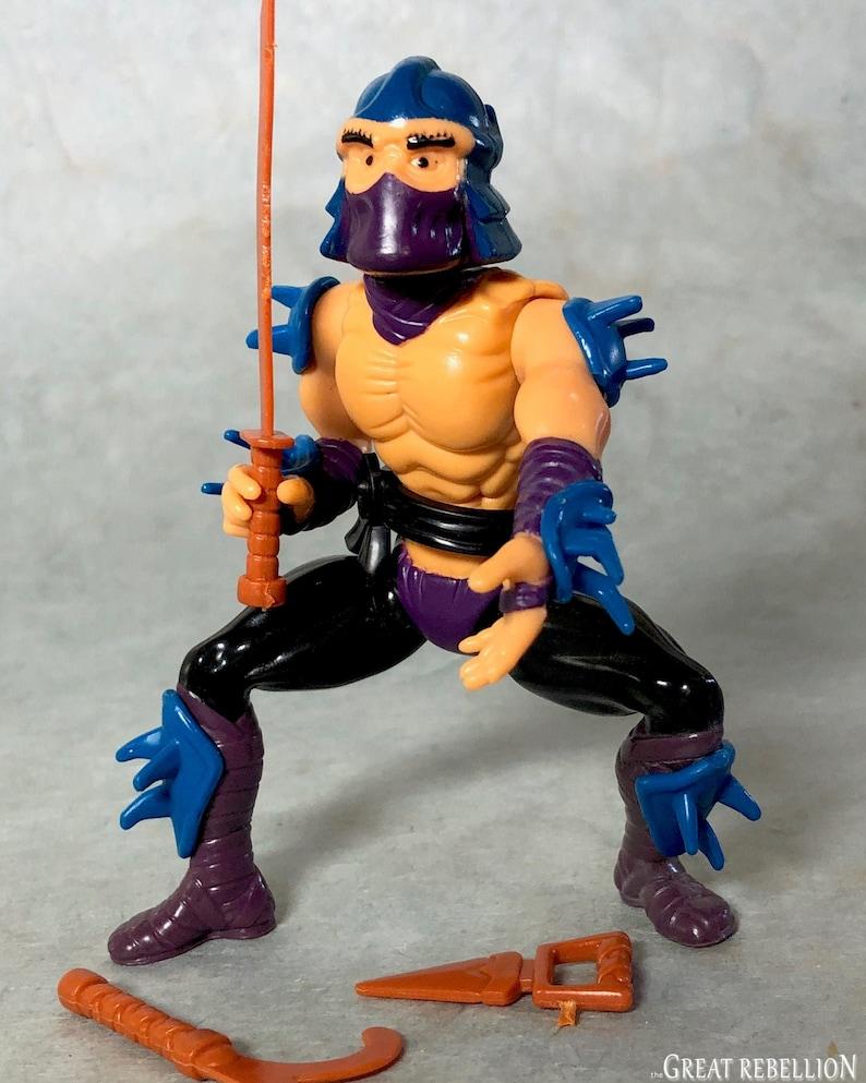 Vintage 1988 Teenage Mutant Ninja Turtles Shredder action figure Playmates 1980/'s TMNT