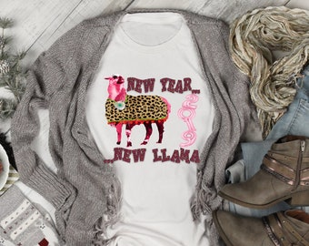 16a16ee0ce5bd New Year New Llama New Years Eve shirt 2019 tee Happy New Year Tshirt Super  Soft Tee Plus Size Available Champagne tee