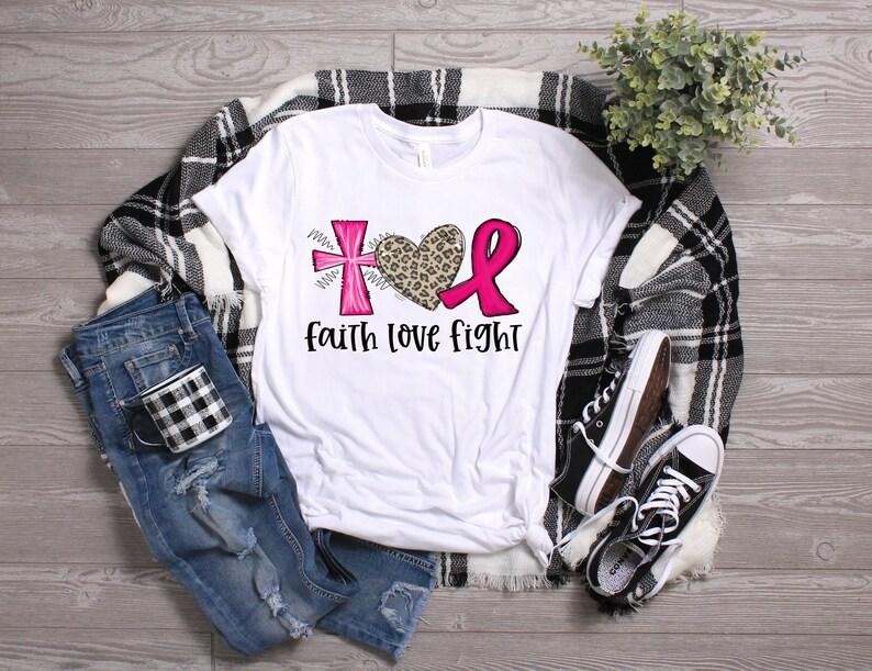 Faith Love Fight Breast Cancer Awareness Shirt Masswerks Store