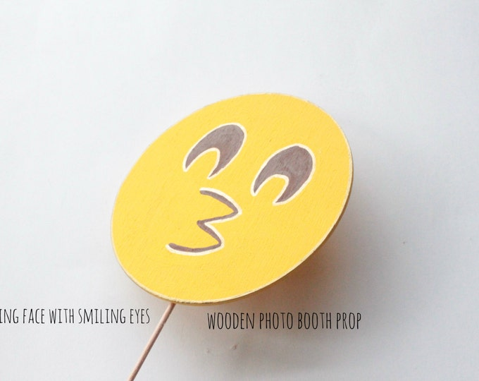 Featured listing image: Kissing face with smiling eyes emoji Emoji Party Supplies Emoji Party Decorations Emoji Photo Booth Props Photo Booth Sign Emoji