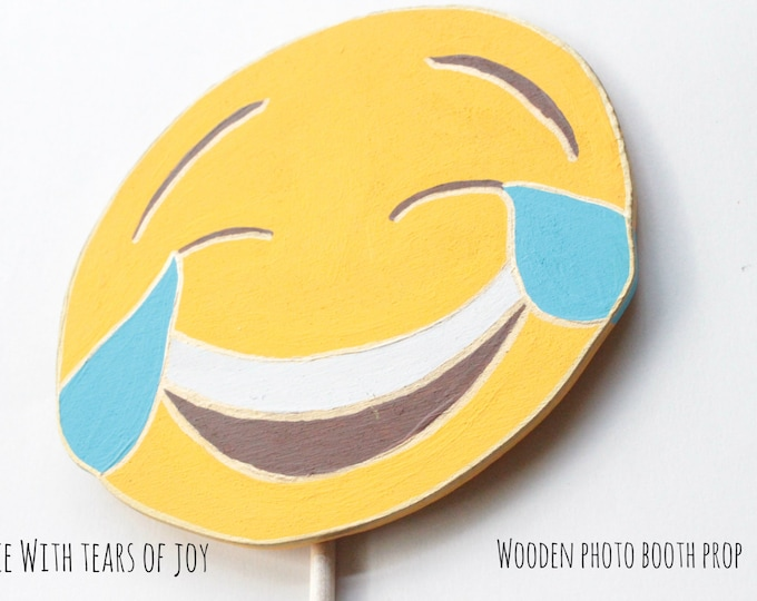 Featured listing image: Face with tears of joy emoji props Emoji Party Decorations Emoji Photo Booth Props Booth Display Photo Booth Props Birthday Emoji