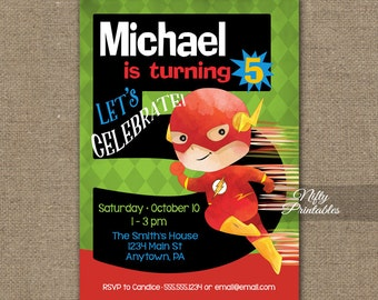 Boys 5th Birthday Invitation