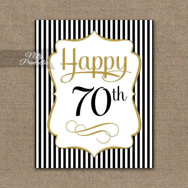 70th Birthday Sign