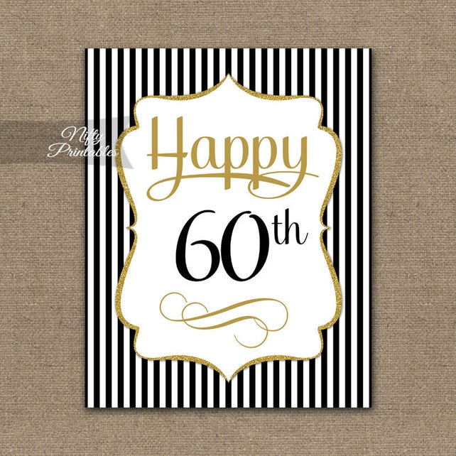 60th Birthday Sign