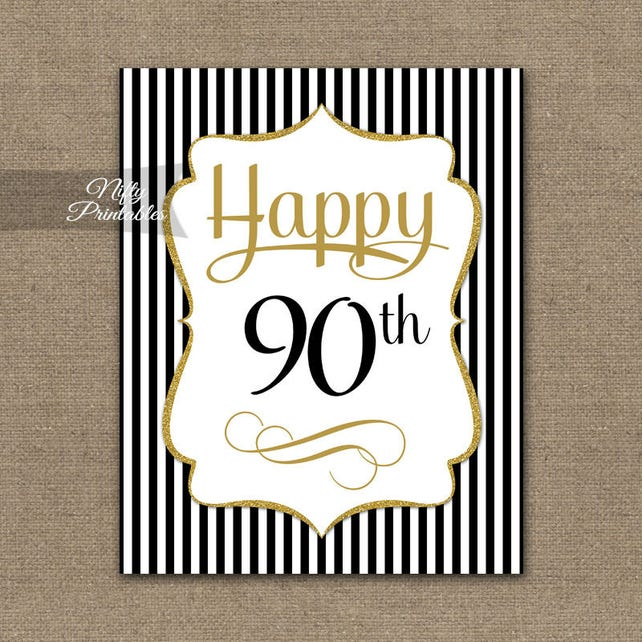 90th Birthday Sign