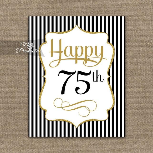 75th Birthday Sign