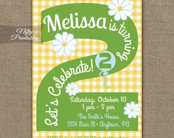 2nd Birthday Invitations Printable Two Years Old Birthday