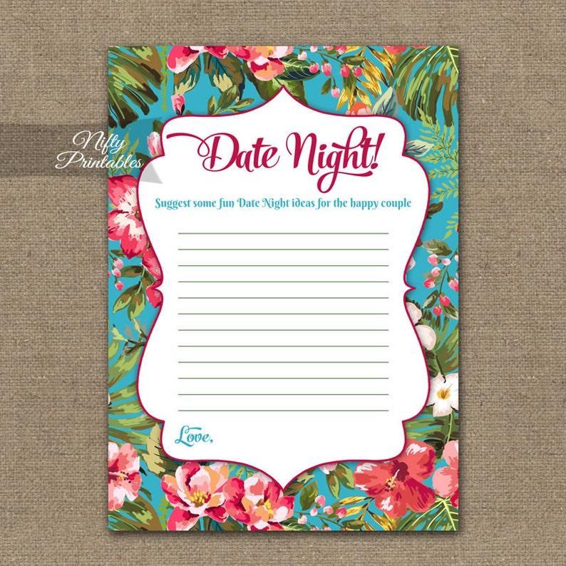 e69b83bef43 Date Night Ideas Cards Hawaiian Bridal Shower Games
