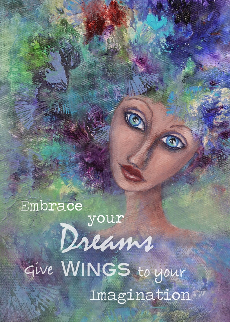 Embrace Your Dreams Inspirational wall art print Home image 0