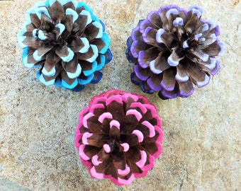 Ombre Pinecones: Set of 3