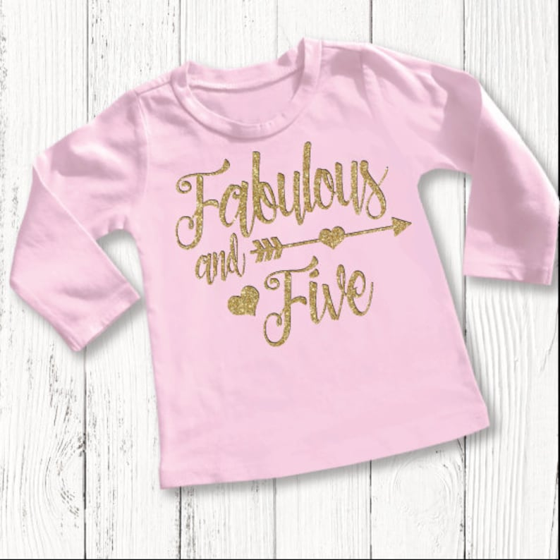 Five Year Old Birthday Shirt Fifth Girls 5