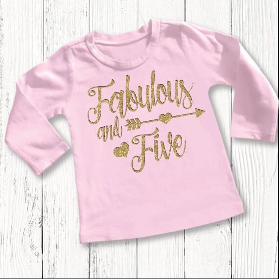 Five Year Old Birthday Shirt Fifth Girls 5