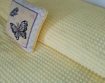 Morgan Jones Yellow Popcorn bedspread....vintage....chenille....full size