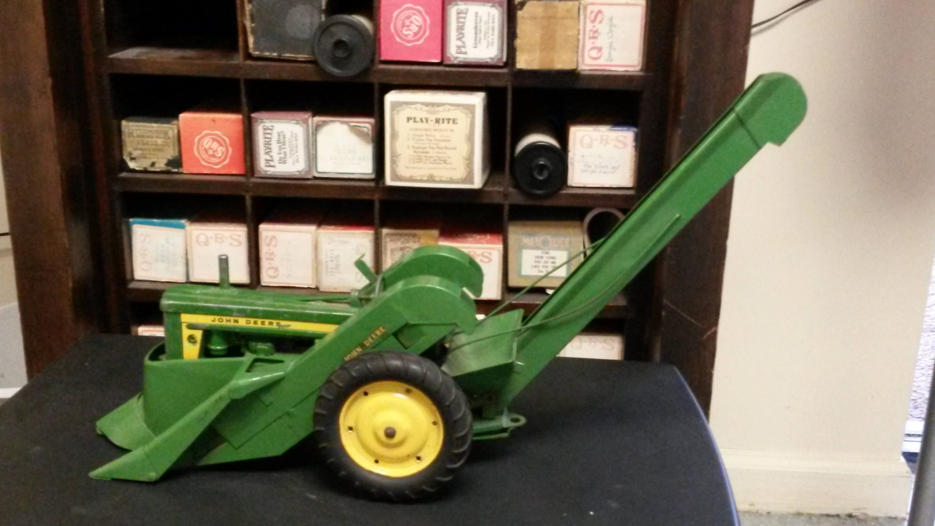 vintage ertl 1:16 john deere tractor and two row corn picker | etsy